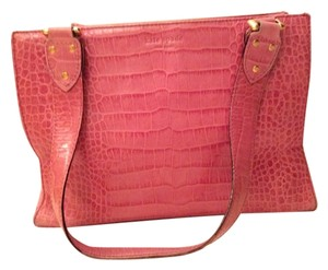 Kate Spade Crocodile Leather Tote in Pink