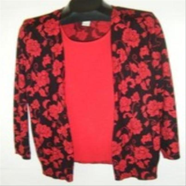 Preload https://img-static.tradesy.com/item/729588/red-and-black-sweater-1x-look-of-2-pc-in-one-twinset-blouse-size-20-plus-1x-0-2-650-650.jpg