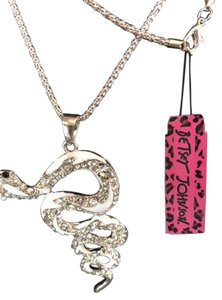 Betsey Johnson Betsey Johnson Iconic Crystal Snake Necklace