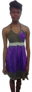 Other short dress purple pladd on Tradesy