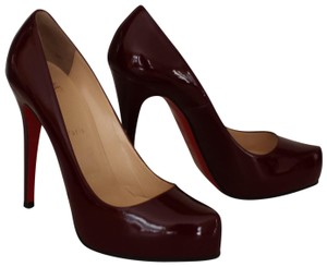 Christian Louboutin Rolando Pointed Toe Hidden Platform Patent Leather Sole Red Pumps