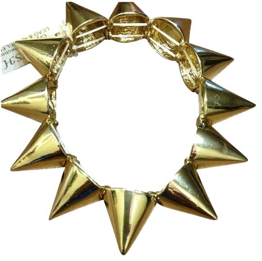Other Gold Stretch Spiked bracelet