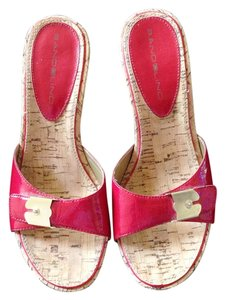 Bandolino Cork Soles Very Light Red Sandals