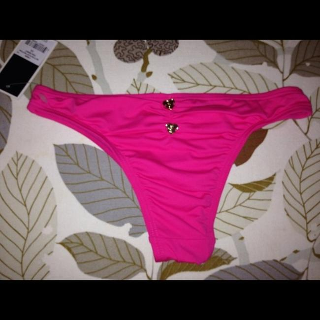 Juicy Couture Juicy couture bikini bottoms swimsuit pink rushed sz large