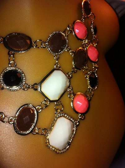 Other Gold Plated Multi-Color Necklace 0014