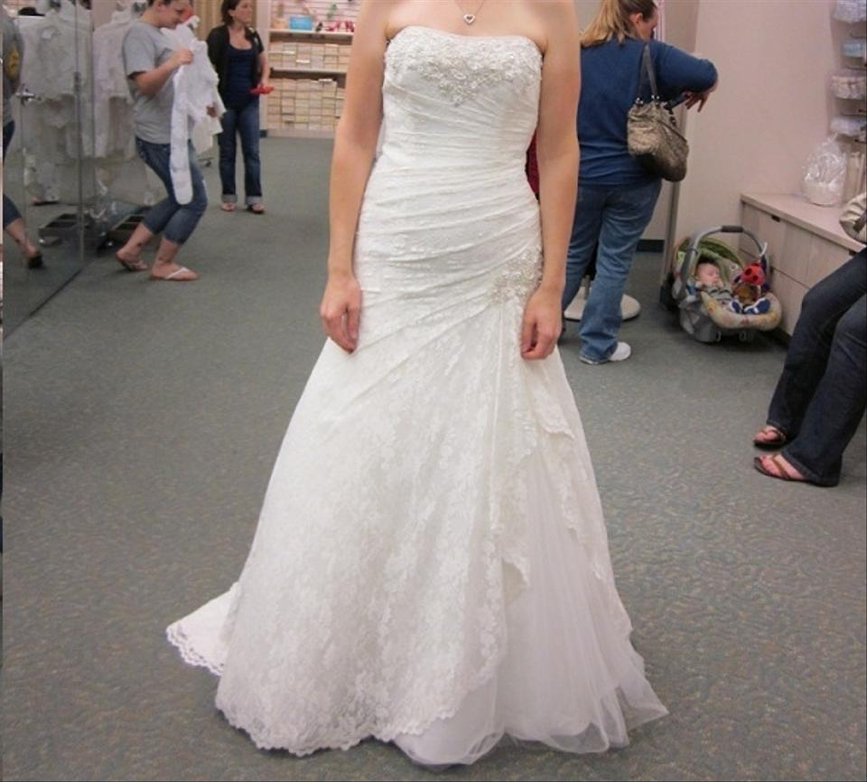 David S Bridal Wedding Gowns: David's Bridal Strapless Lace Fit-and-flare Gown With Side