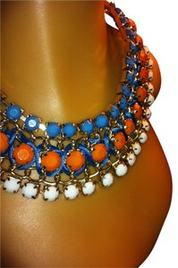Multi Color / Orange, Turquoise and White Passionate Choker 0013