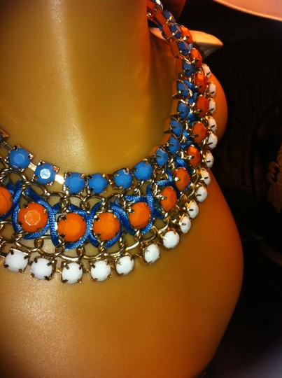 Other Multi Color / Orange, Turquoise and White Passionate Choker 0013