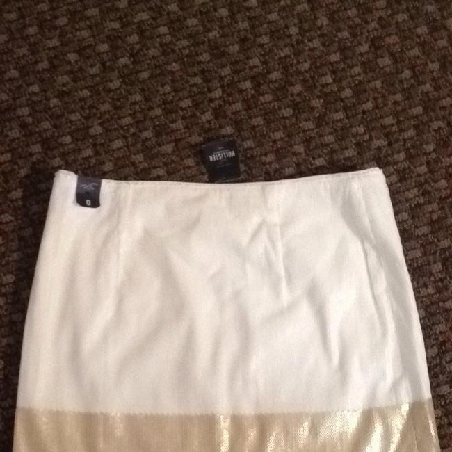 Hollister Skirt White/Gold