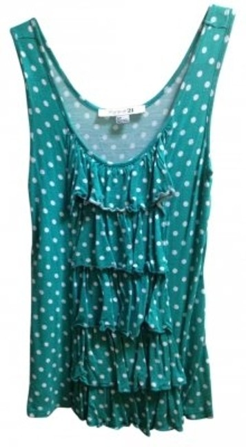 Preload https://img-static.tradesy.com/item/7300/forever-yours-teal-tank-topcami-size-2-xs-0-0-650-650.jpg