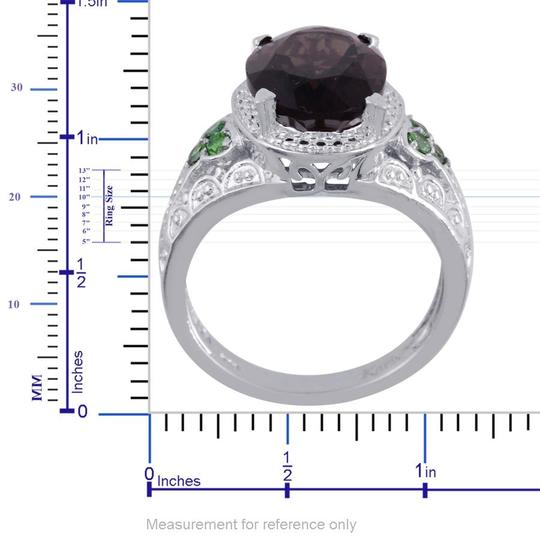 Unknown Brazilian Smoky Quartz, Simulated Emerald Ring