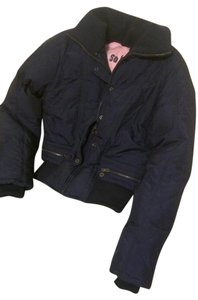 So Low Down Quilted Fitted navy blue Jacket