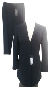 STRENESSE Strenesse NEW Gabriele Strehle Black Virgin Wool Tailored Pants Suit