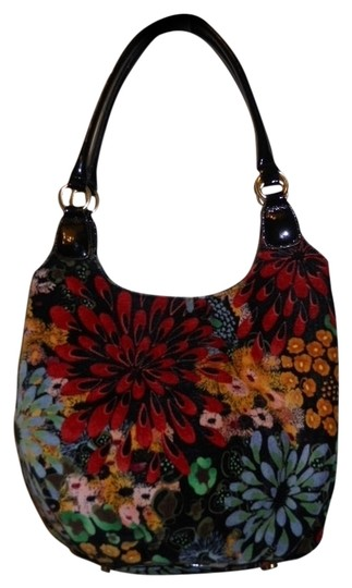 Preload https://item3.tradesy.com/images/talbots-velour-multicolor-cotton-and-patent-leather-tote-730122-0-0.jpg?width=440&height=440