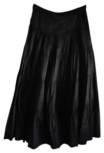 H&M Maxi Maxi Skirt Black