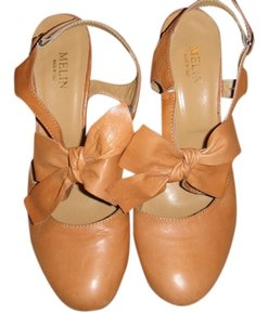 Melin Brand Italian Leather Tan Pumps