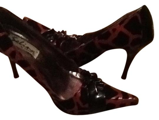 Selina by Summer Rio Pointed Toe Red/black leopard Pumps
