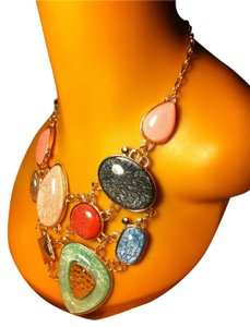 Multi Rock Design Necklace 0012