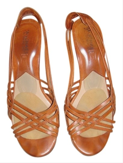 MICHAEL Michael Kors Italian Leather congac Sandals