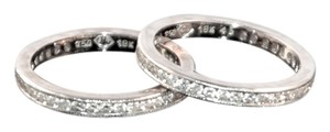 Hope Goldman Meyer Fine Jewelry Pair of Diamond Wedding Bands in 18K White Gold, size 6