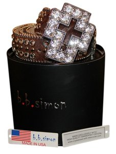 BB Simon Crystal Cross Belt