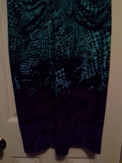 teal and purple Maxi Dress by Calvin Klein