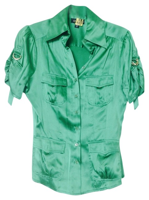 bebe Top Kelly Green