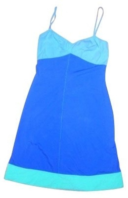 Preload https://item2.tradesy.com/images/french-connection-dark-bluelight-blue-short-casual-dress-size-6-s-731-0-0.jpg?width=400&height=650