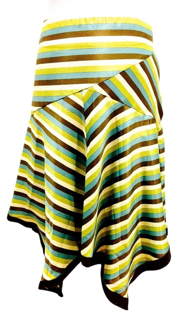 Hazel Handkerchief Luxury Luxe Designer Brand Nordstrom Skirt Multi (Brown, cream, turquoise, light green)