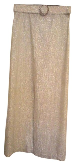 Vintage 60s Maxi Skirt Silver