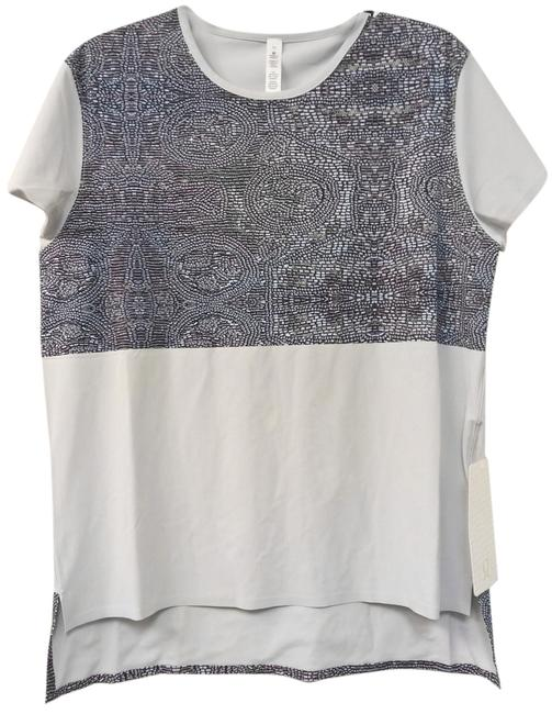 Item - Silver and Faux Bead Snapshot Activewear Top Size 10 (M, 31)