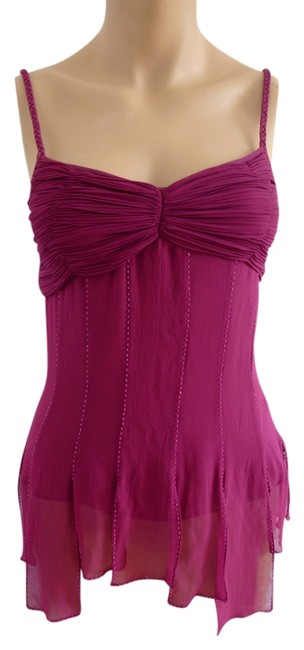 Sue Wong Be Noticed One-of-a-kind New Classic Real Silk Unique Top Fuschia