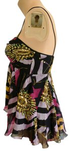 Diane von Furstenberg Stand Out Be Noticed Classic Embellished Designer Exclusive Top Black/Gold/Fuschia/Lavender