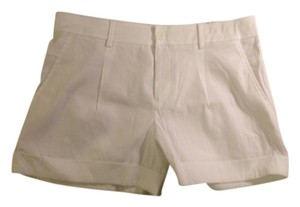 Vince Linen Cuffed Cuffs Shorts White