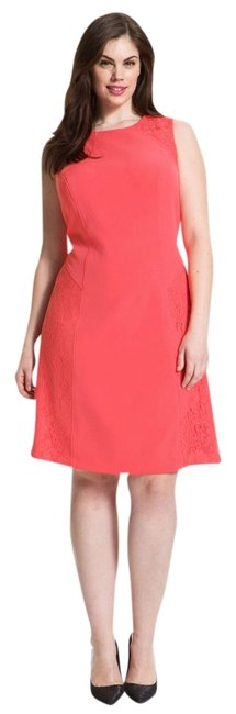 Preload https://img-static.tradesy.com/item/731211/adrianna-papell-pink-colorblock-a-line-lace-knee-length-cocktail-dress-size-10-m-0-0-650-650.jpg