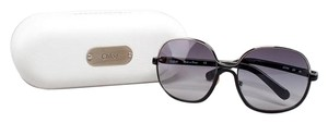 Chloé Black and Chrome Oversized Sunglasses
