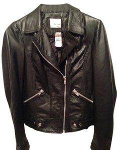 Red Leather Motorcycle Silver Hardware black Leather Jacket