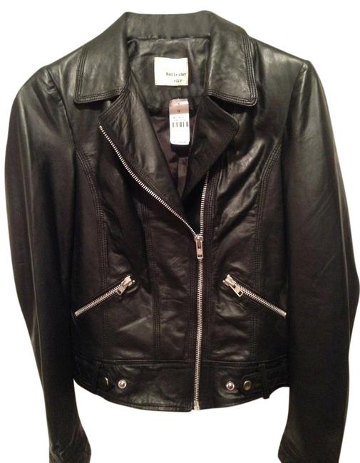 Red Leather Ette Motorcycle Silver Hardware Lightweight black Leather Jacket