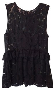 Karen Kane Lace Sleeveless Top Black