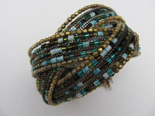 OTHER WIRE CUFF BRACELET WITH BEADS