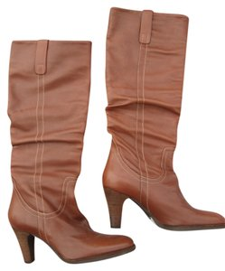 Via Spiga Chunky Heels Brown Boots
