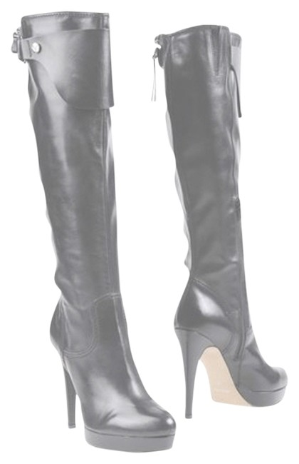 Item - Black High Heeled Leather Boots/Booties Size US 8