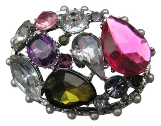 Preload https://item2.tradesy.com/images/silver-pink-brown-purple-blue-with-large-stones-fits-all-ring-731321-0-0.jpg?width=440&height=440