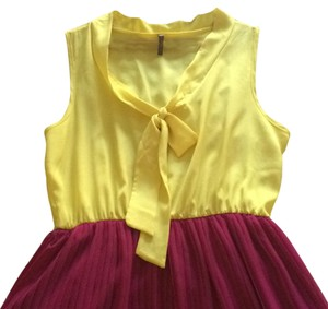 Modcloth short dress Yellow magenta on Tradesy