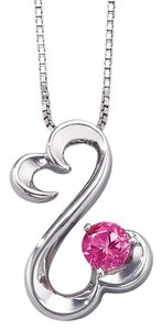 Kay Jewelers Kay Jewelers Sterling Silver with Pink Sapphire Stone