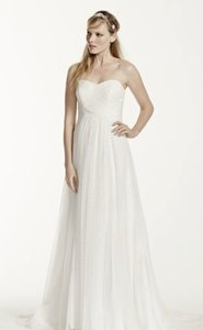 Galina Swiss Dot Tulle Empire Waist Wedding Dress