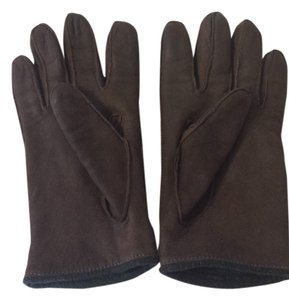 Coach Coach Brown Suede gloves with fleece lining - size Large
