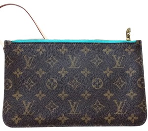 Louis Vuitton Louis vuitton Neverfull Cosmetic Pouch Clutch Turquoise Mm Gm Pouch