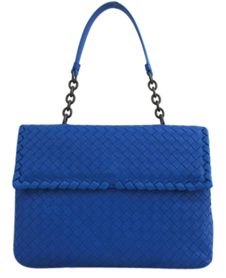 e441980264a3 Bottega Veneta Olimpia Medium 354761v0016 Blue Leather Shoulder Bag ...