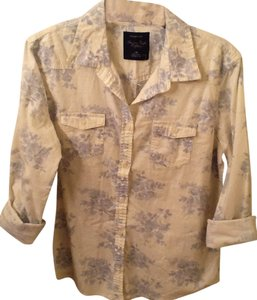American Eagle Outfitters Button Down Shirt Ivory